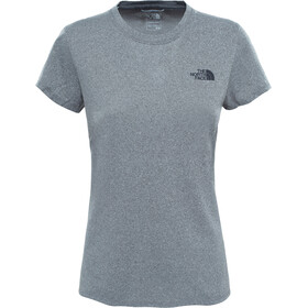 The North Face Reaxion Amp Crew Hardloopshirt korte mouwen Dames grijs